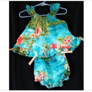 RJC Hawaiian print Baby Girl 18M floral luau Dress